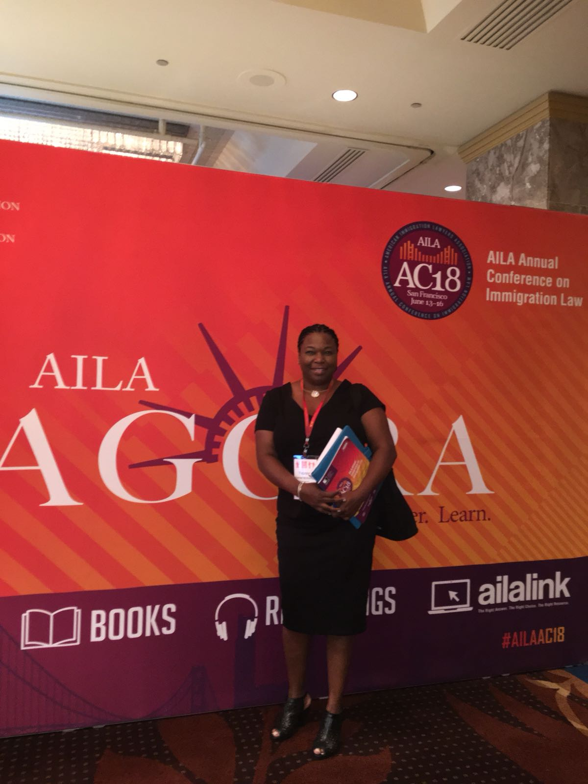 Immigration Attorney Yvonne McKinnon at 2018 AILA Annual Conference on Immigration Law